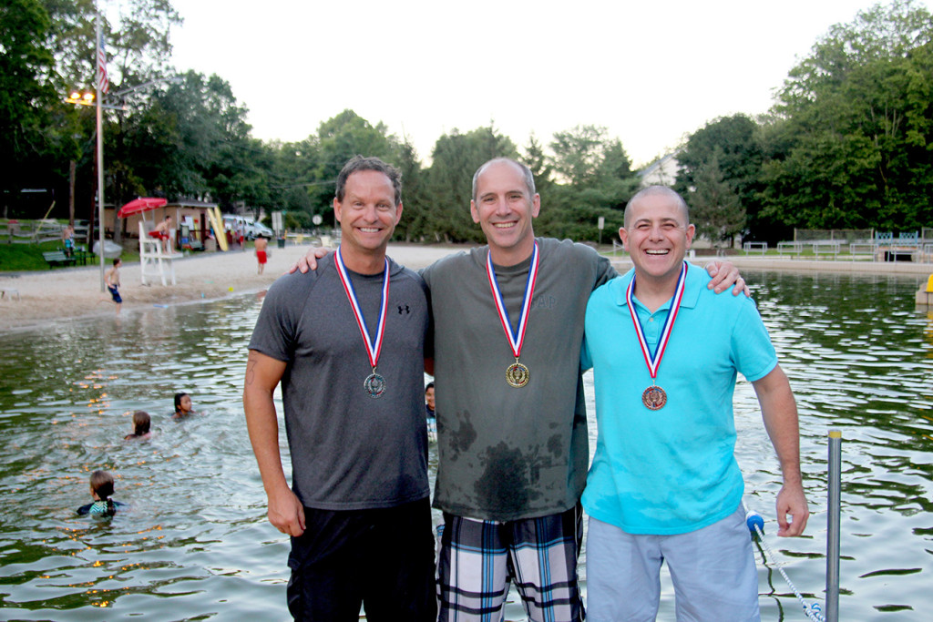 Ages 40+ Winners: (above l-r) David Van Houtte, Brad Cambell, Brian Marino