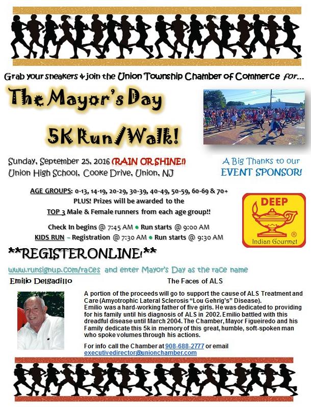 Union The Mayor's Day 5K Run/Walk @ Union High School, Cooke Drive, Union NJ | Union | New Jersey | United States