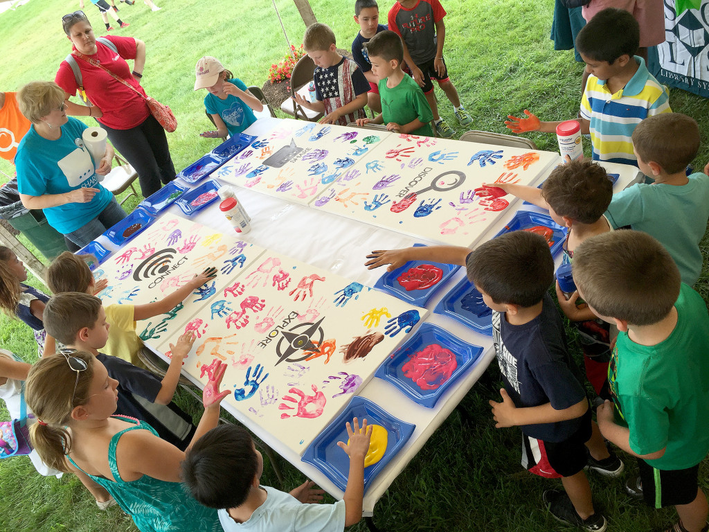 Renna media somerset county library creates community for Creation mural kids