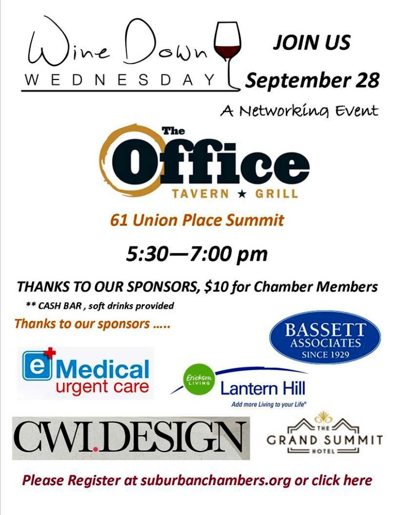 Summit Wine Down Wednesday Networking Event @ The Office Tavern Grill | Summit | New Jersey | United States