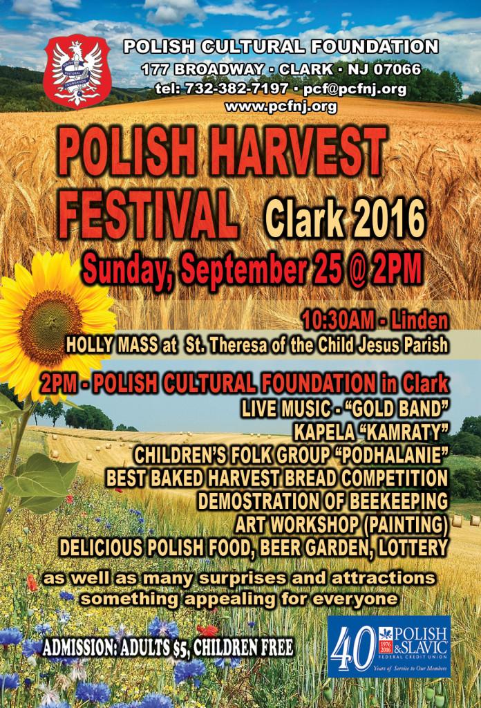 Clark Annual Polish Harvest Festival @ Polish Cultureal Foundation in Clark | Clark | New Jersey | United States