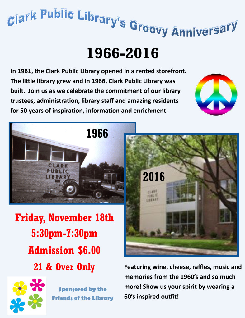 Clark Public Library's Groovy Anniversary @ Clark Public Library | Clark | New Jersey | United States