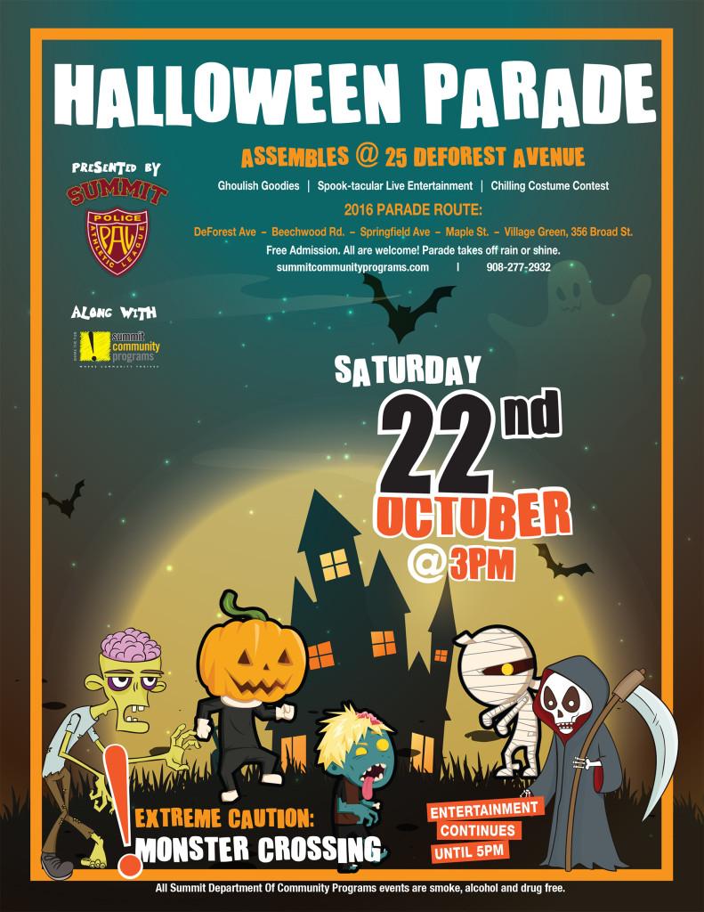 Summit Halloween Parade @ 25 Deforest Avenue