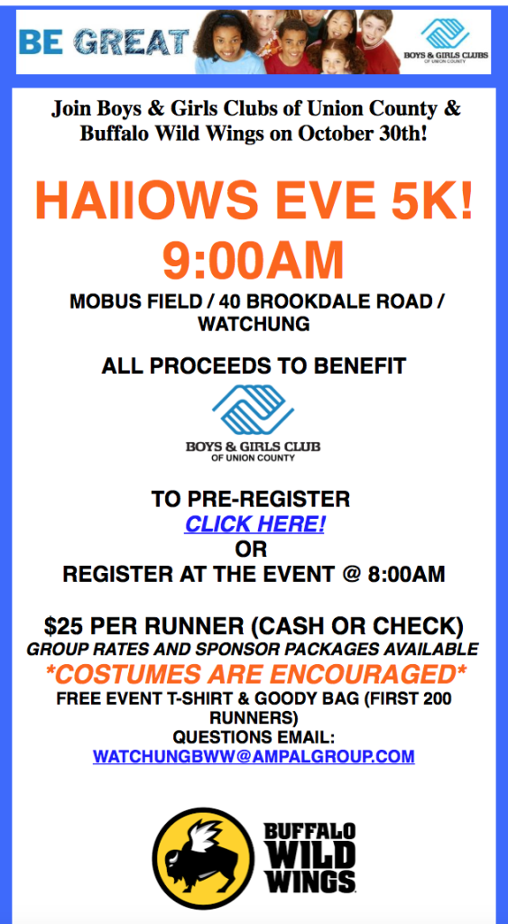 Watchung Hallows Eve 5K @ Mobus Field | Woodfin | North Carolina | United States