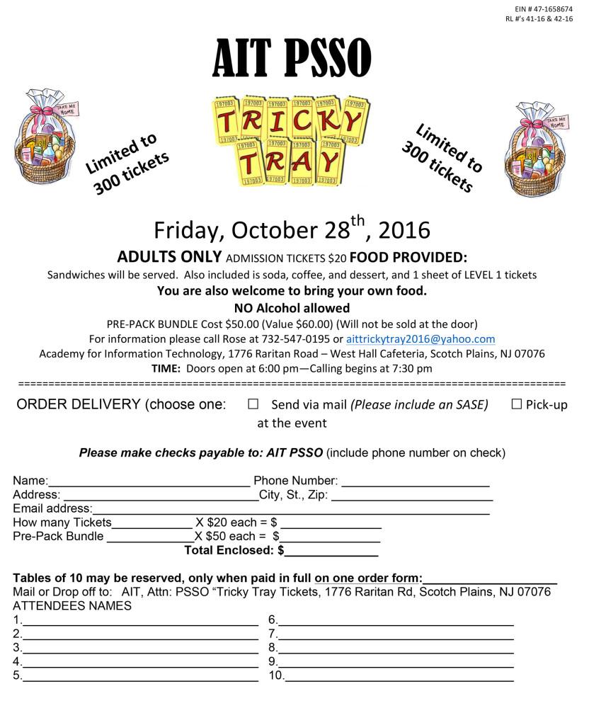 Scotch Plains Tricky Tray @ Academy for Information Technology | Scotch Plains | New Jersey | United States