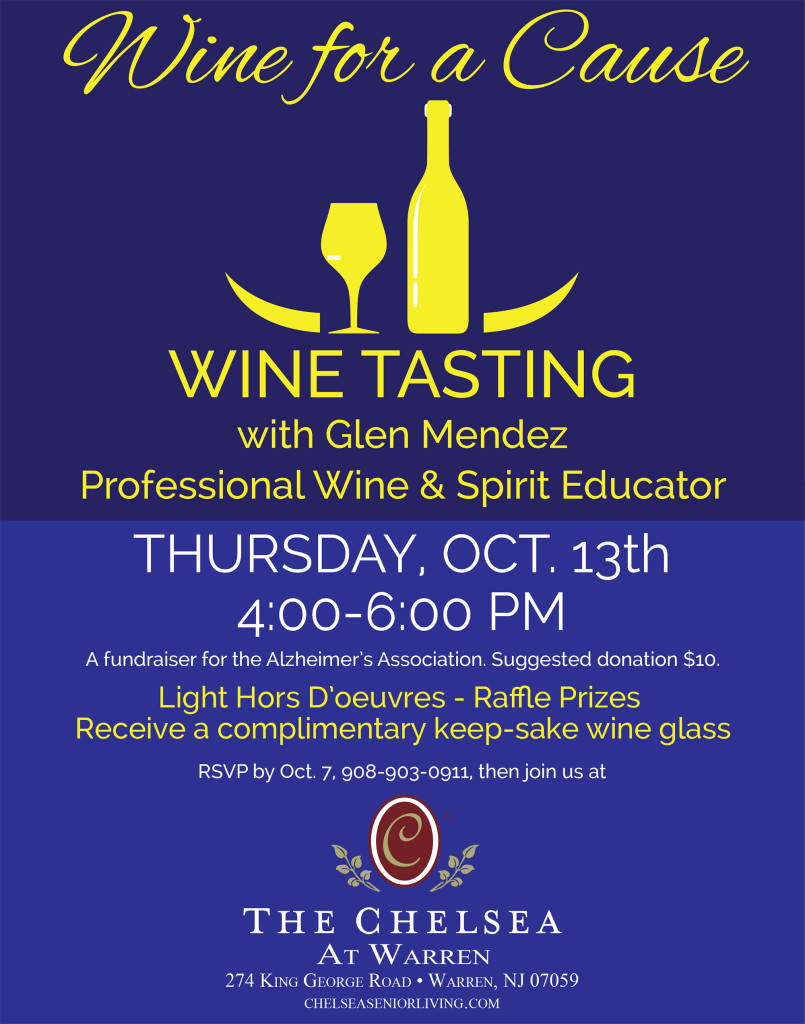 Warren Wine Tasting For a Cause @ The Chelsea | Warren | New Jersey | United States