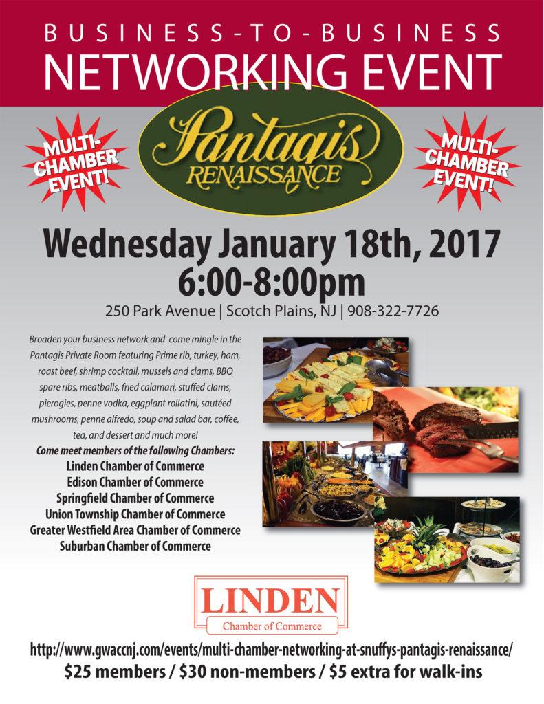 Linden Multi Chamber Networking Event @ Pantagis Renaissance | Scotch Plains | New Jersey | United States