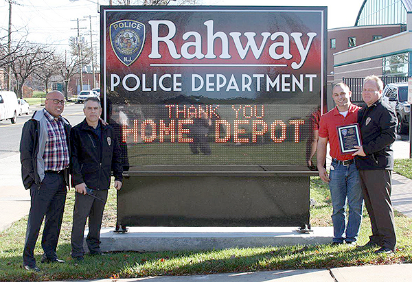 Police Department Thanks Home Depot For Continued Support