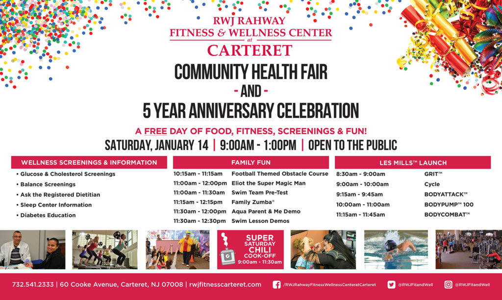 Rahway Carteret Community Health Fair & 5 Year Anniversary Celebration @ Carteret | New Jersey | United States