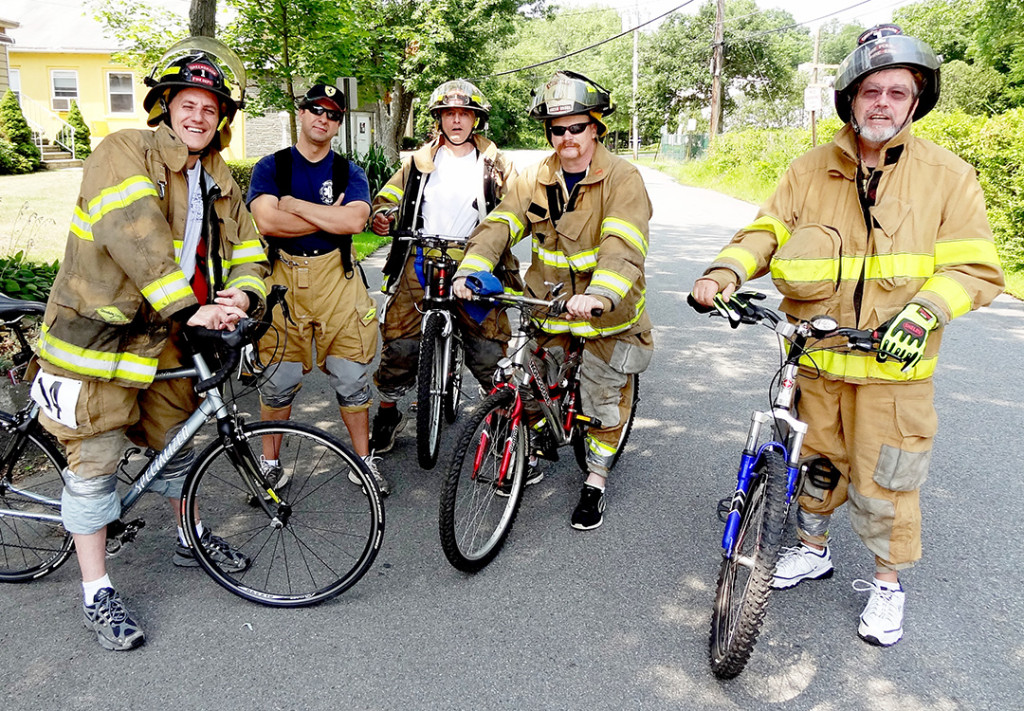 Green Brook Fire EMS moments before the grueling race.