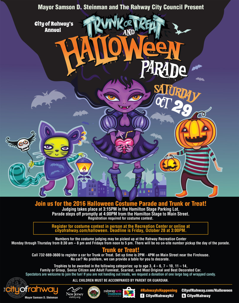 Rahway Trunk or Treat & Halloween Parade @ Rahway Hamilton Stage Theater | Rahway | New Jersey | United States