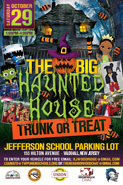 Union The Big Haunted House Trunk or Treat @ Jefferson School Parking Lot 155 Hilton Ave. | Union | New Jersey | United States