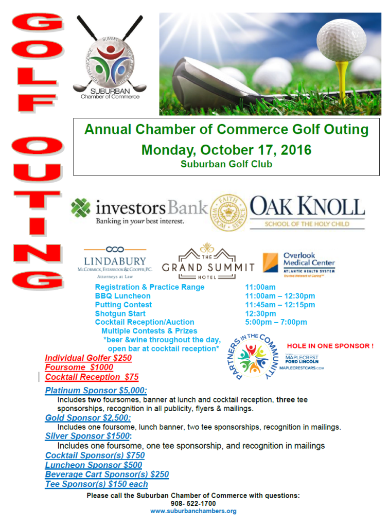 Suburban Annual Chamber of Commerce Golf  Outing