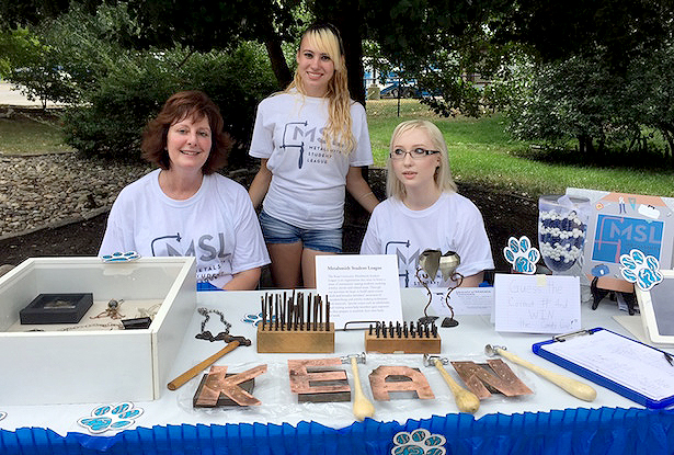 (above l-r) Metalsmiths Marianne Jennings, Amanda Mikulewicz and Kelli Hayes won the $500 grand-prize at this year's Kean Day celebration.