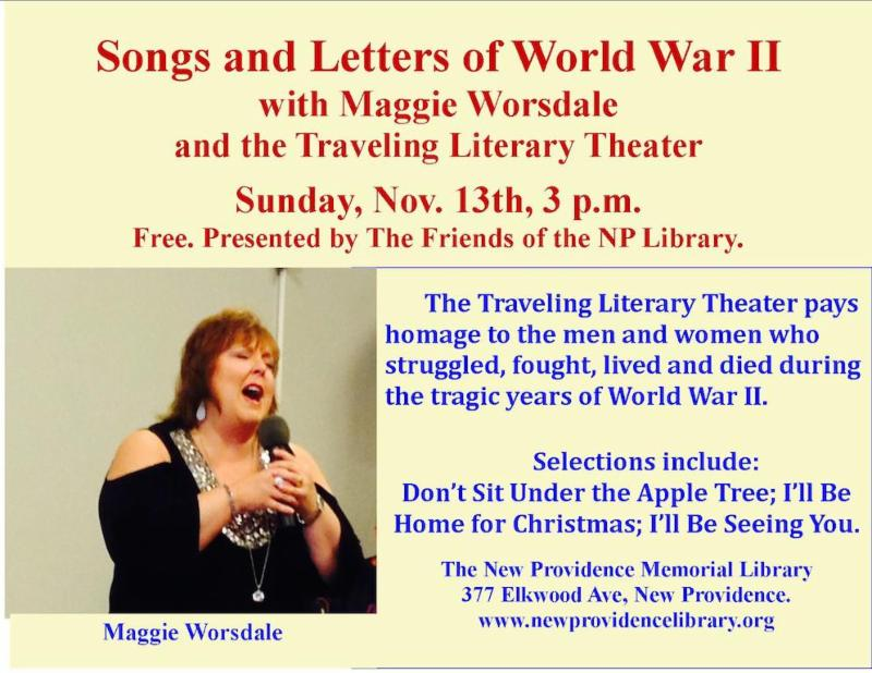 New Providence  Songs and Letters of World War II @ New Providence Memorial Library | New Providence | New Jersey | United States