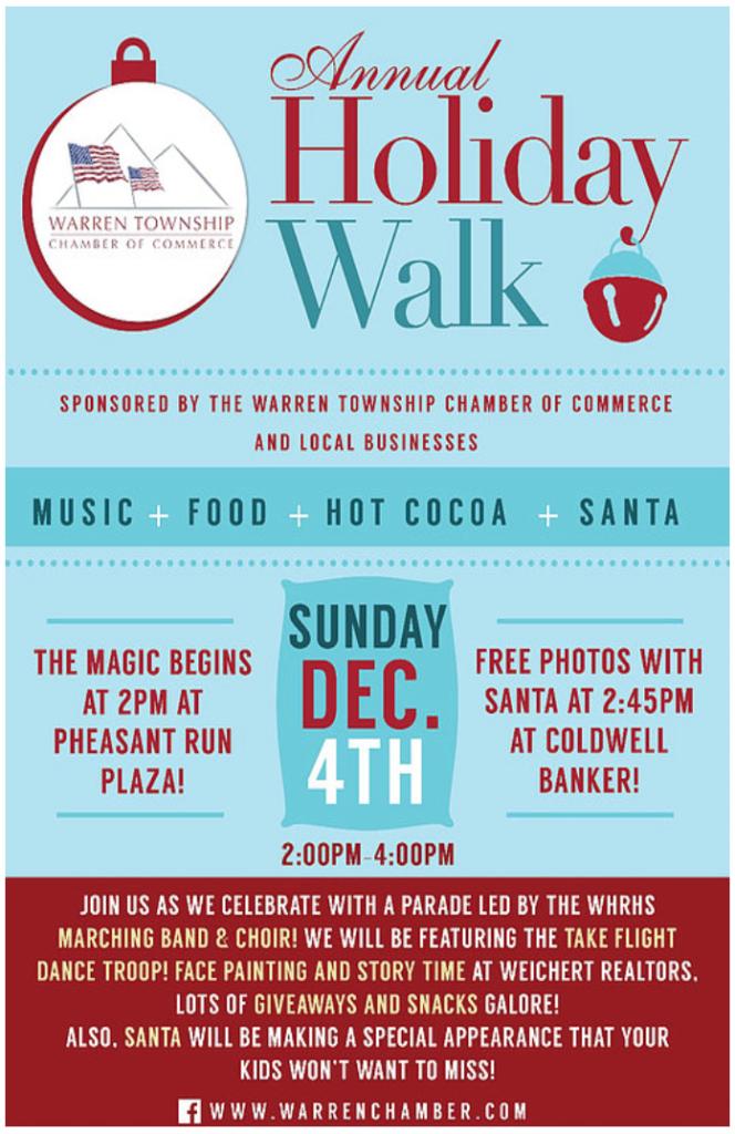 Warren Annual Holiday Walk @ Pheasant Run Plaza