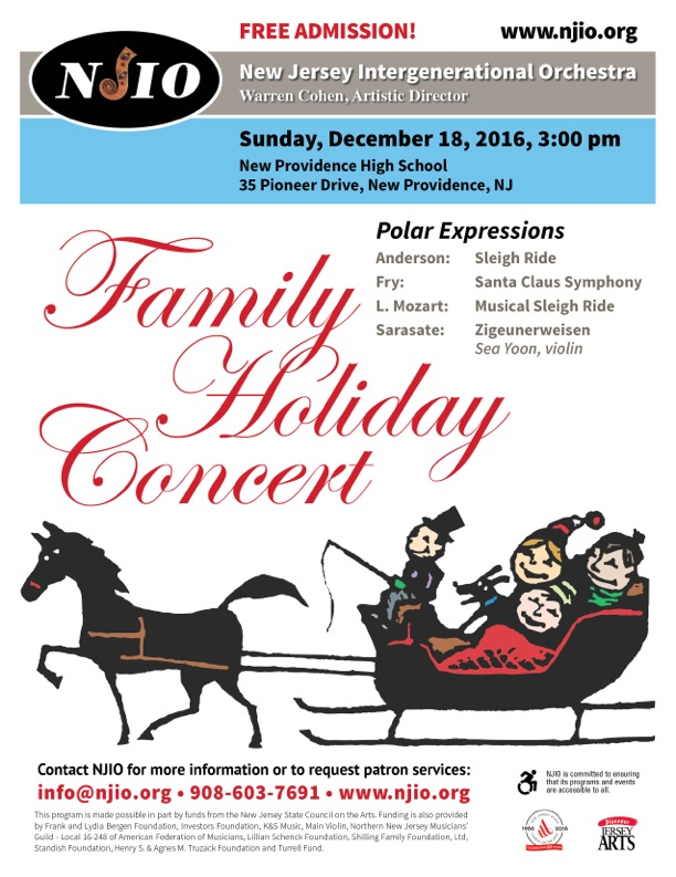 New providence Family Holiday Concert @ New Providence High School | New Providence | New Jersey | United States