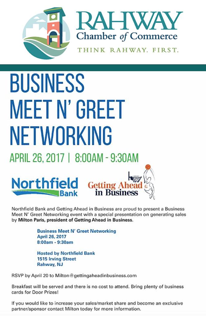 Rahway COC Business Meet N'Greet Networking