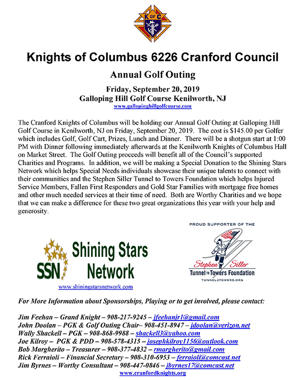 Renna Media | Cranford Knights of Columbus Annual Golf Outing